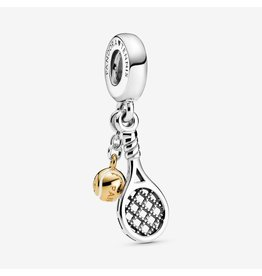 Pandora Pandora Charm 769026C01, Tennis Ball And Racket, Sterling Silver&Shine
