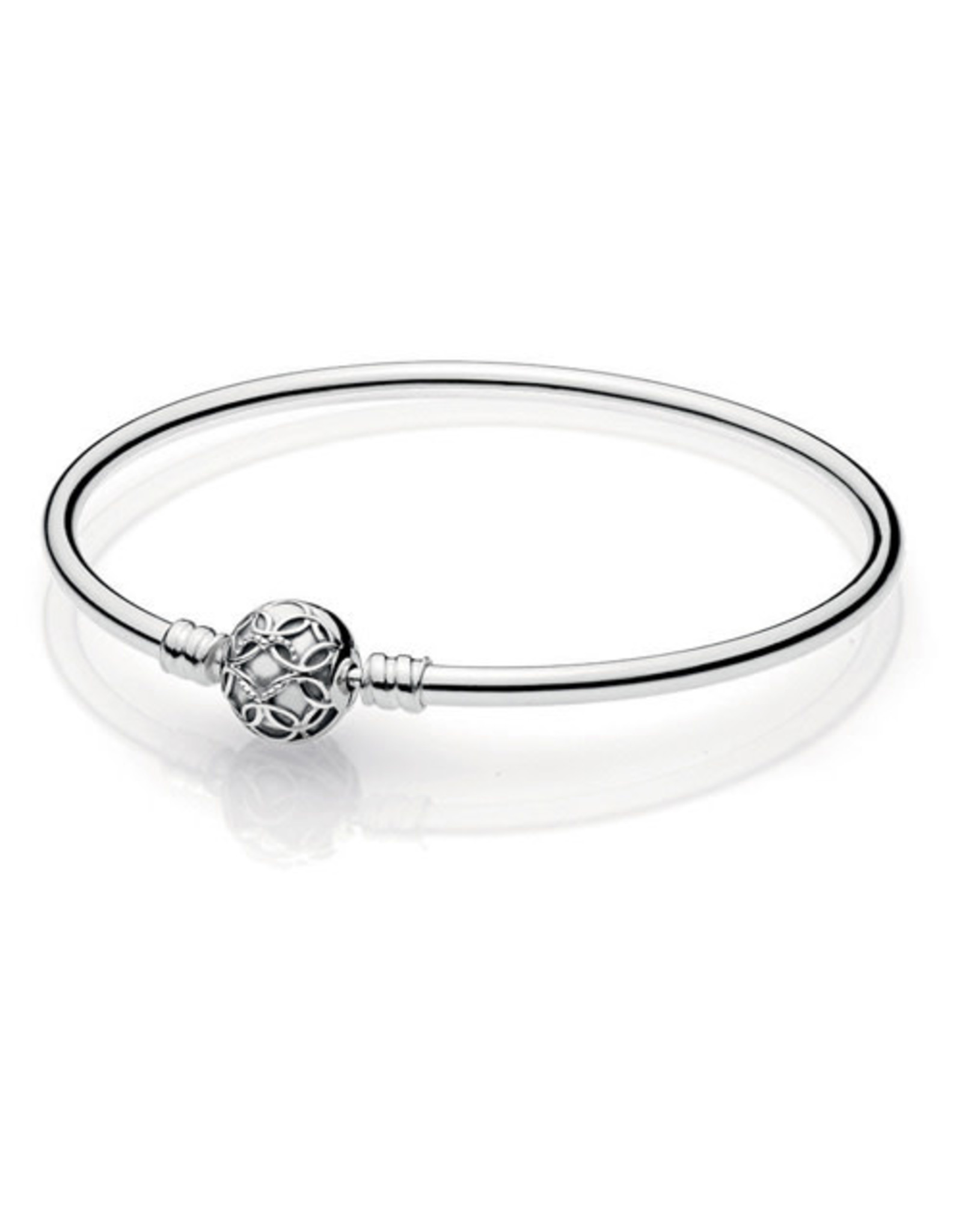 Pandora Pandora Bangle Pattern of Love, (597137) in sterling silver with heart pattern 17 cm