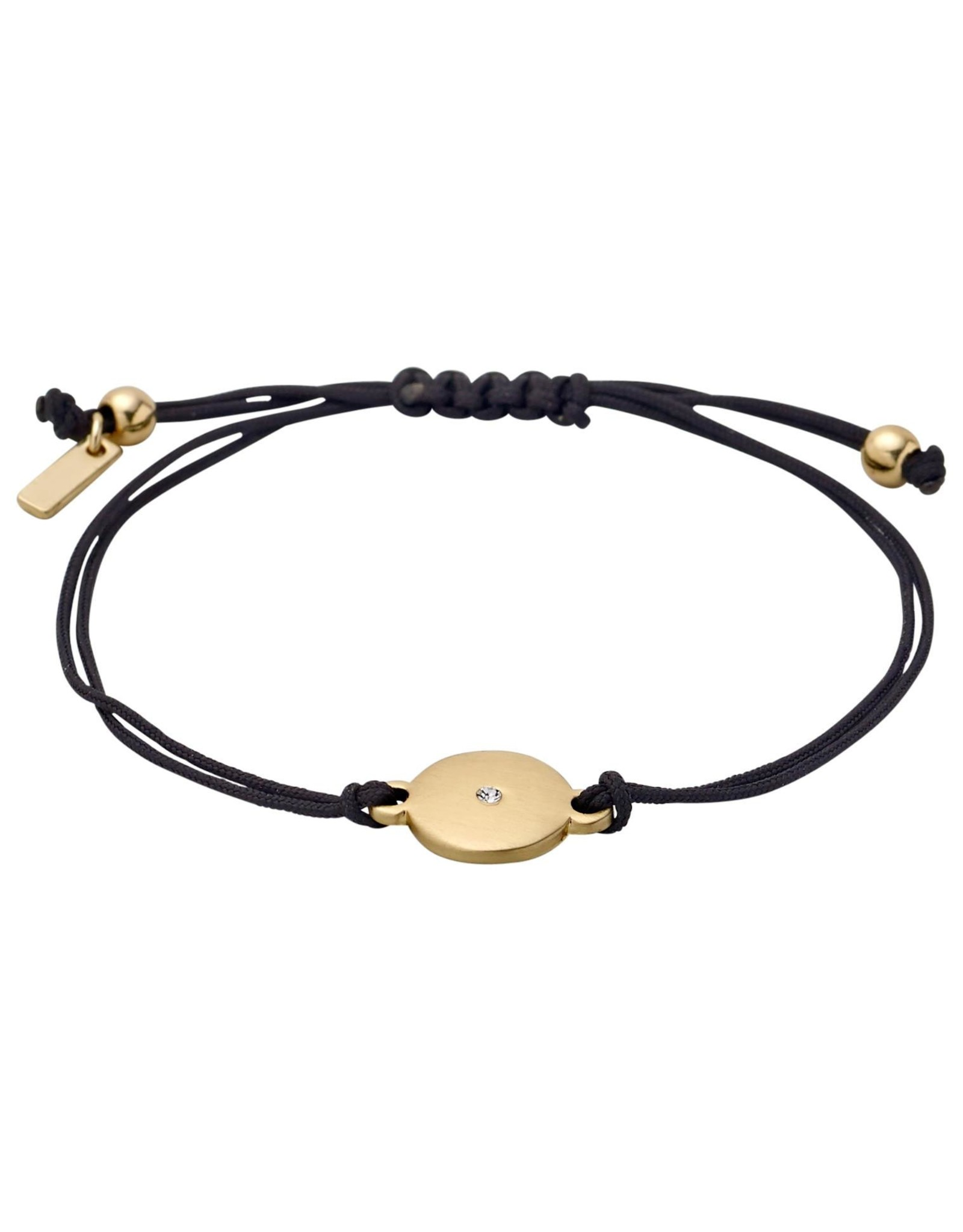 Pilgrim Friendship Bracelet, Gold Plated, Black
