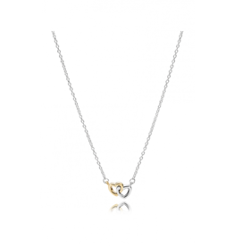 Pandora Pandora Necklace (590517) United In Love With 14K Gold and Clear CZ 45 cm