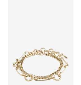 Pilgrim Pilgrim, Bracelet Sensitivity, 2 Separate Chains, Gold Plated