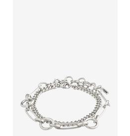 Pilgrim Pilgrim, Bracelet Sensitivity, 2 Separate Chains, Silver Plated