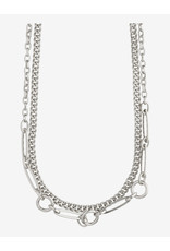 Pilgrim Pilgrim Necklace Sensitivity, 2 Separate Chains, Silver Plated