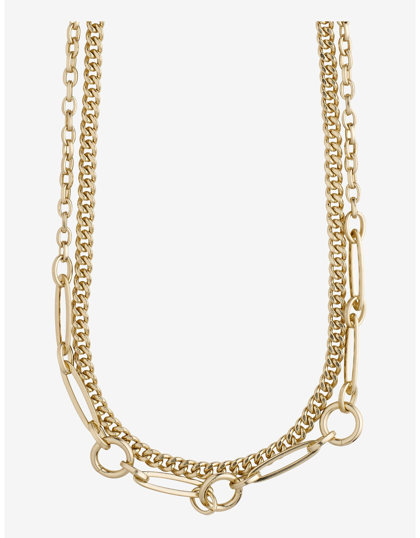 Pilgrim Pilgrim Necklace Sensitivity, 2 Separate Chains, Gold Plated
