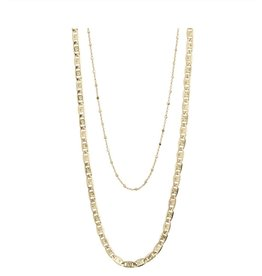 Pilgrim Pilgrim, Necklace Intuition, 2 Separate Chains, Gold Plated