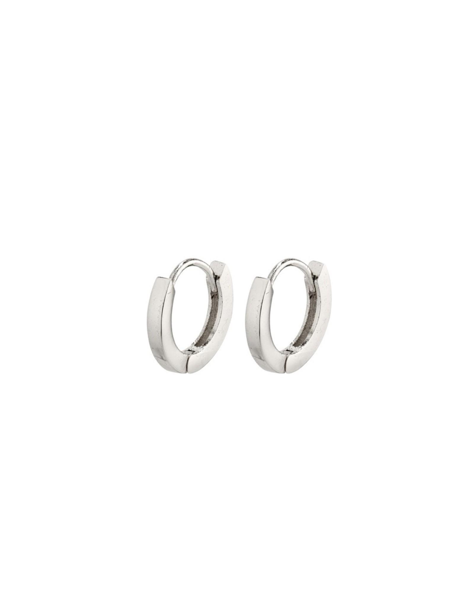 Pilgrim Pilgrim Earrings, Arnelle Small Hoops, Silver Plated