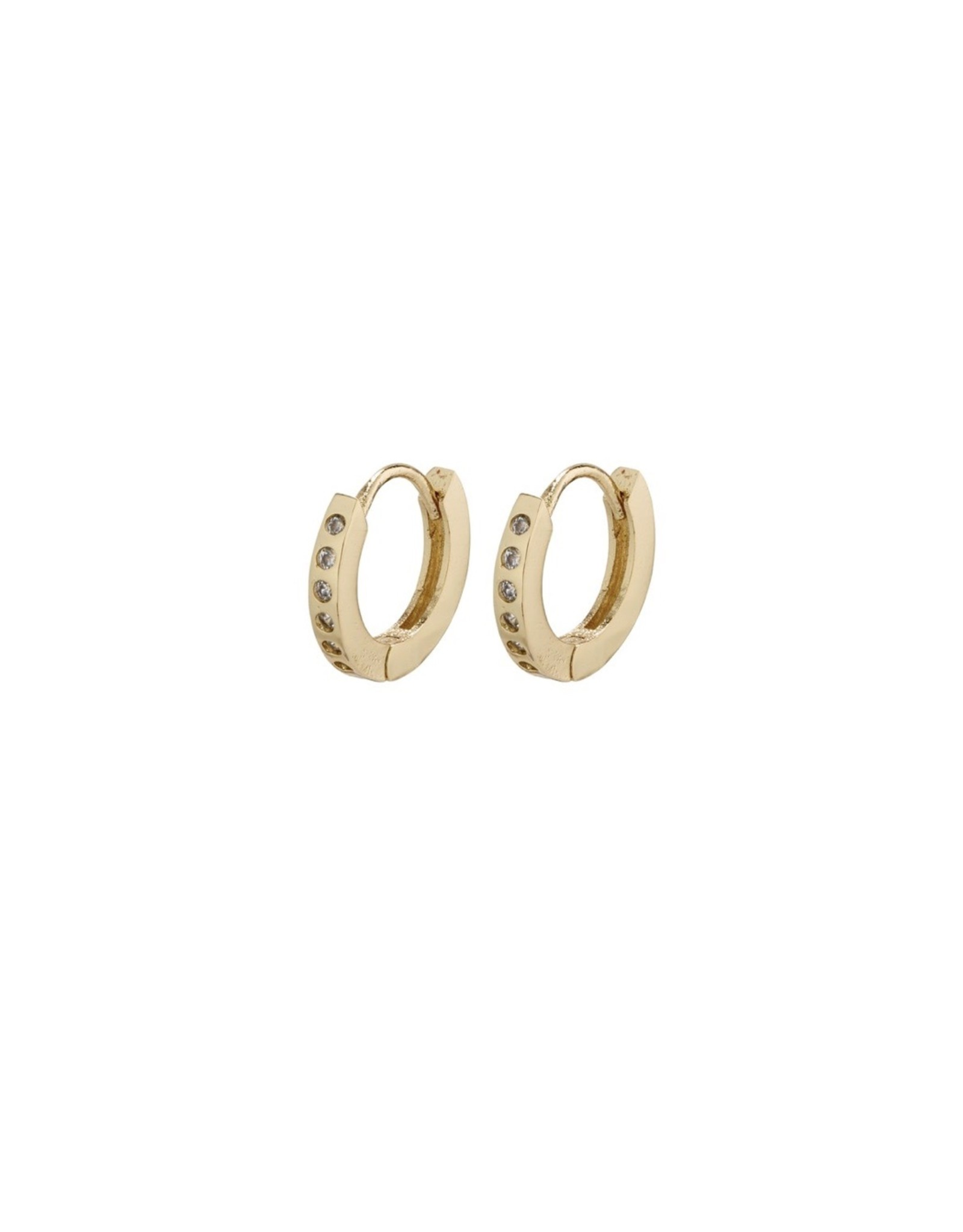 Pilgrim Pilgrim Earrings, Gry Small Hoops, Gold Plated