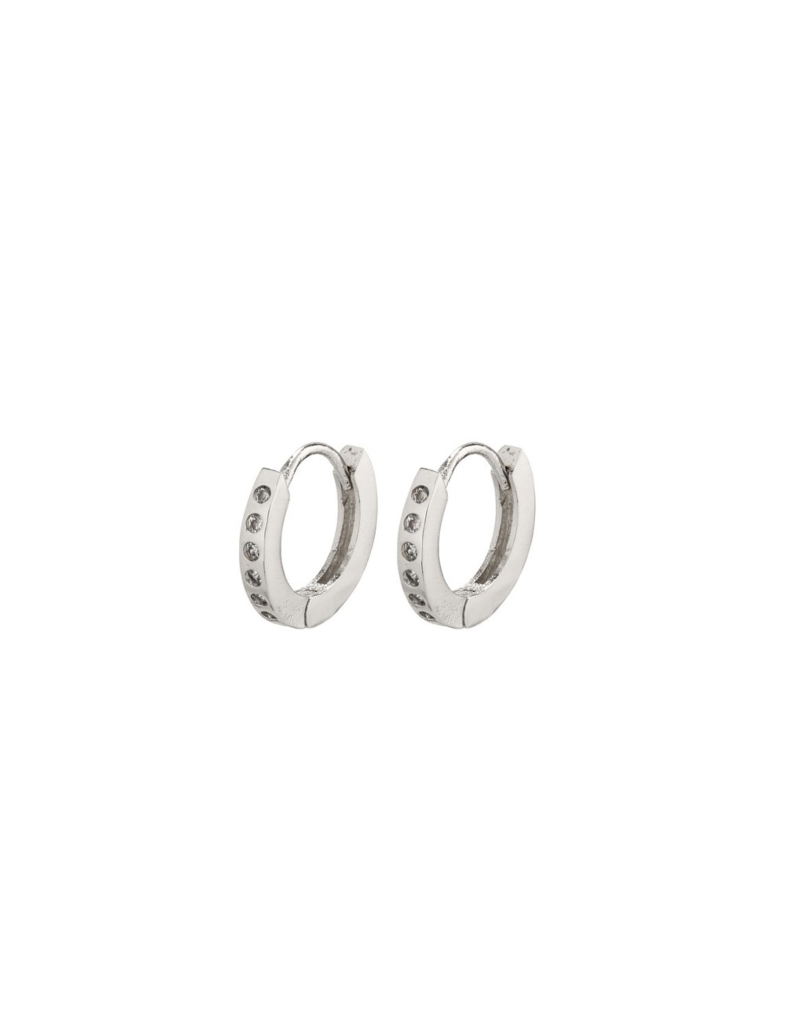 Pilgrim Pilgrim Earrings, Gry Small Hoops, Silver Plated