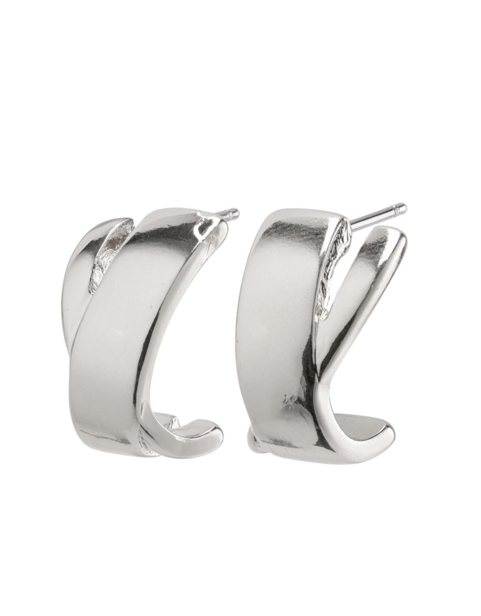 Pilgrim Pilgrim Earrings, Melia, Silver Plated