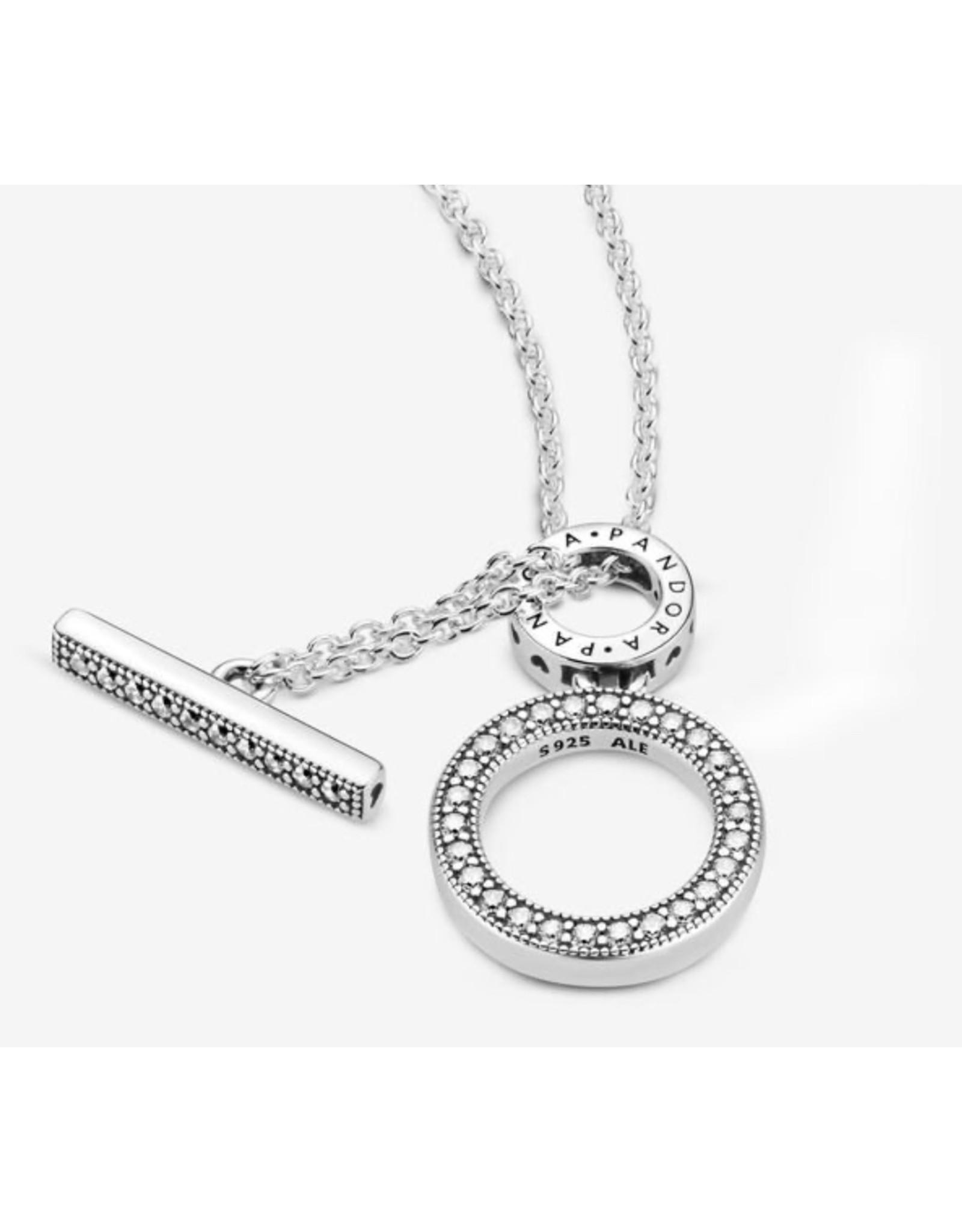 Pandora Pandora Necklace, 399039C01/45, Sterling Silver CZ / 45 cm