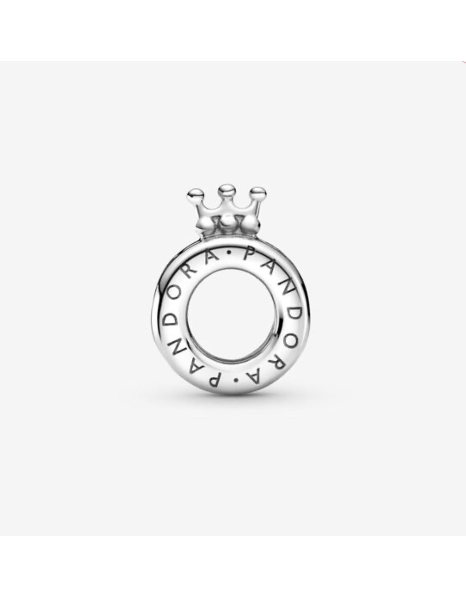 Pandora Pandora Charm, 799036C00,Logo & Crown O, Sterling Silver