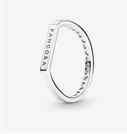 Pandora Pandora Ring, 199048C00, Logo Bar