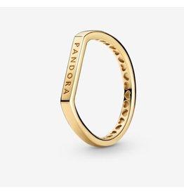 Pandora Pandora Ring, 169048C00, Logo Bar, Shine