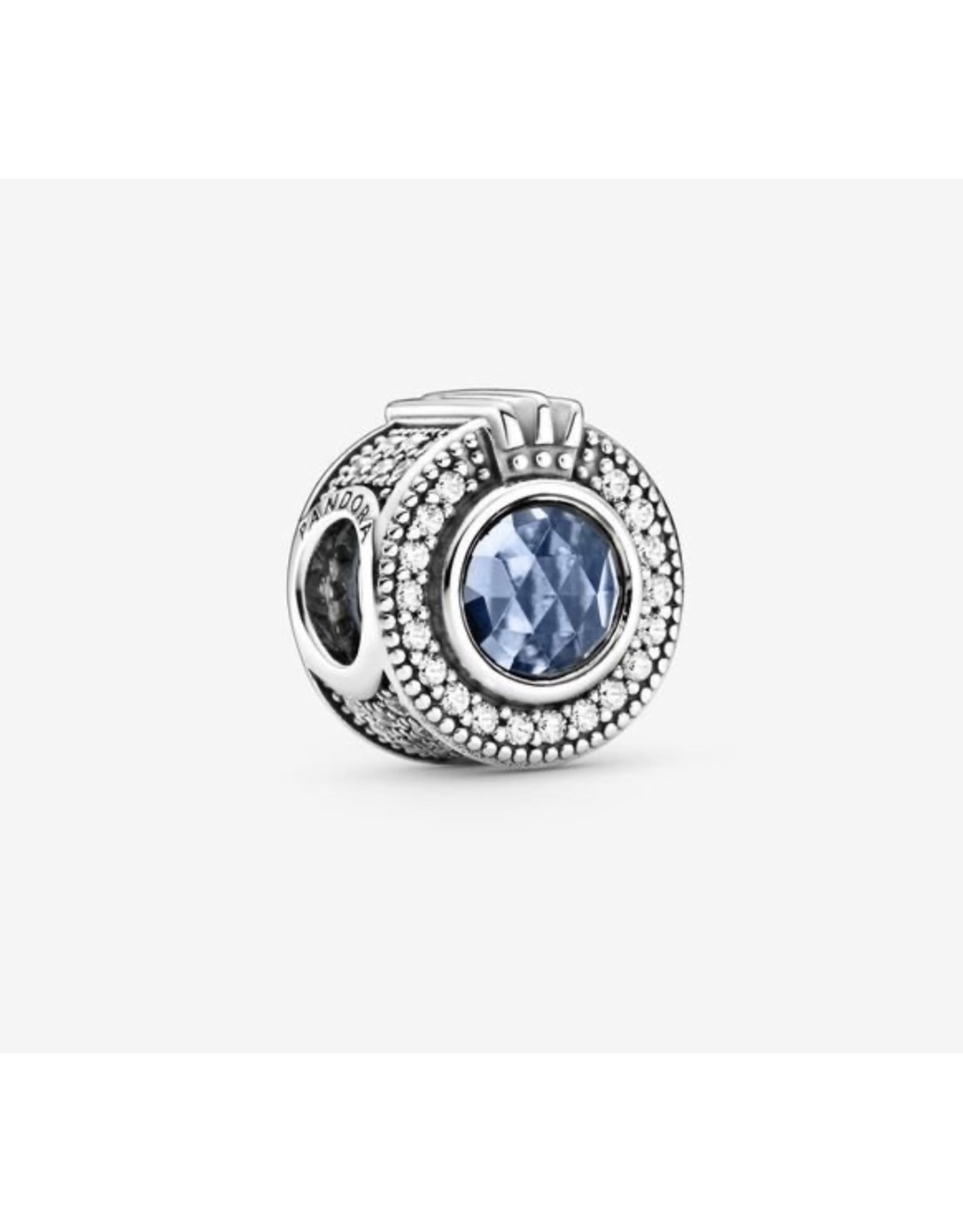 Pandora Pandora Charm,799058C01, Sparkling Blue Crown O, Clear CZ & Blue Crystal