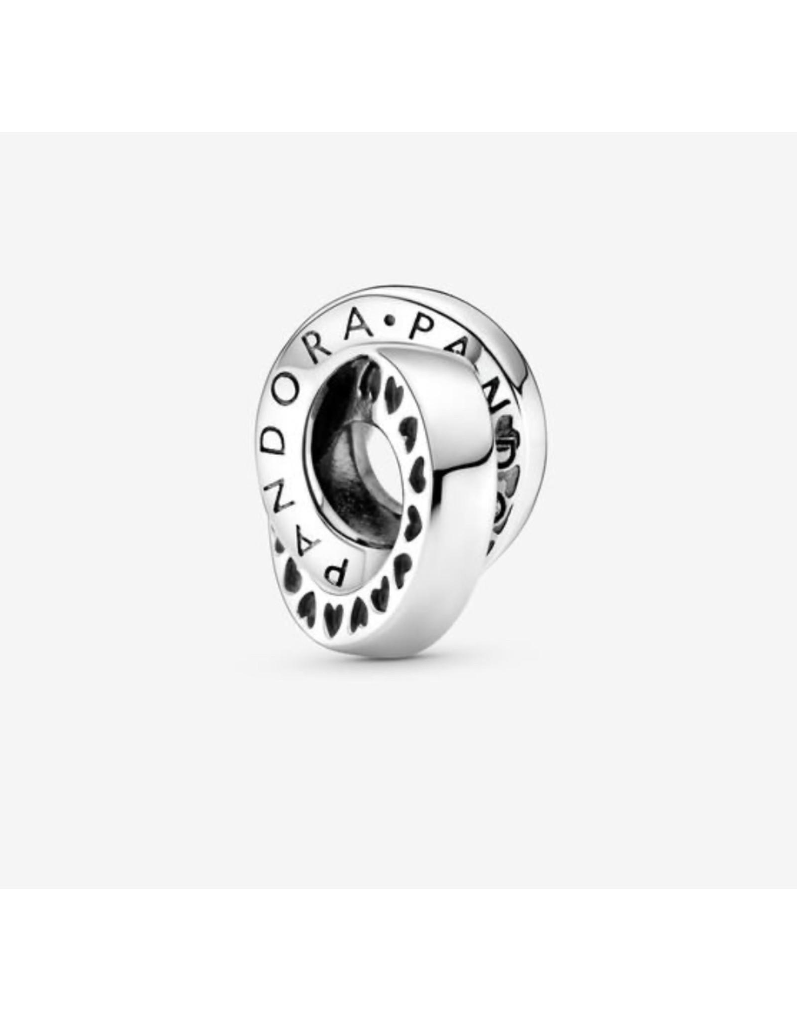 Pandora Pandora Charm,799035C00, Signature Logo & Heart Bands