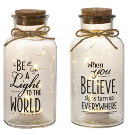 Light Up Jar LED Lights, Be A Light In The World