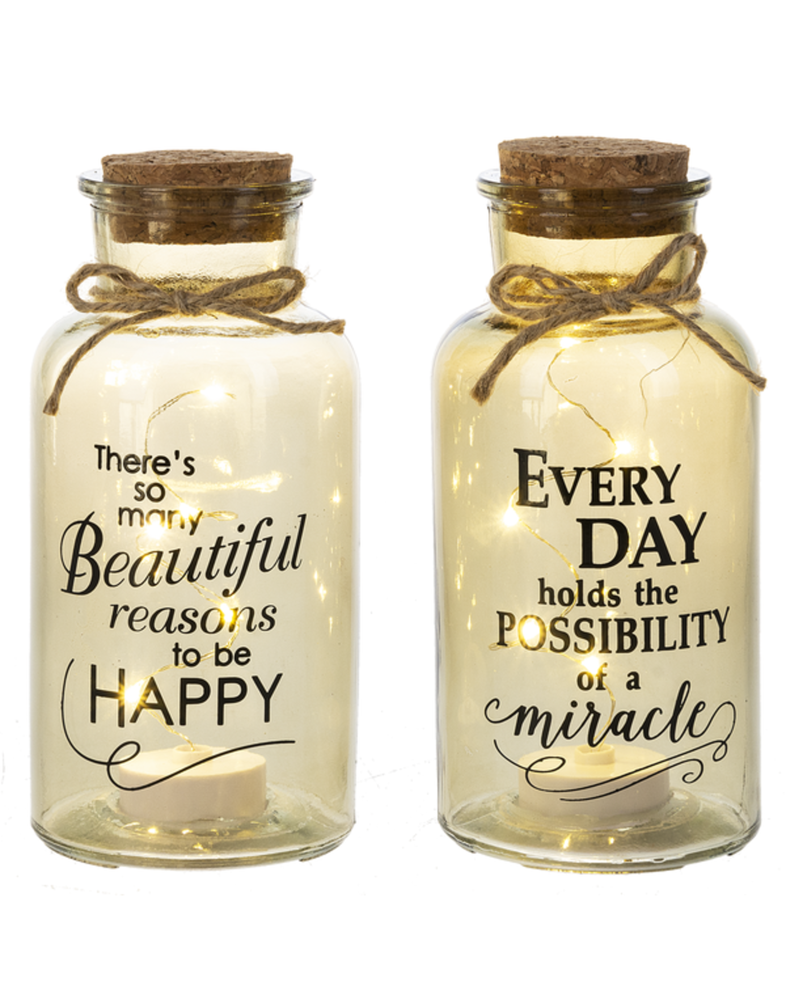 Light Up Jar LED Lights, Everyday Holds The Possibility Of A Miracle