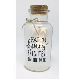 Twinkle Jar, Light Decor, Faith Shines Brightest In The Dark
