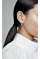 Pandora Pandora Earrings,298889C00,Infinity Sterling Silver Hoop