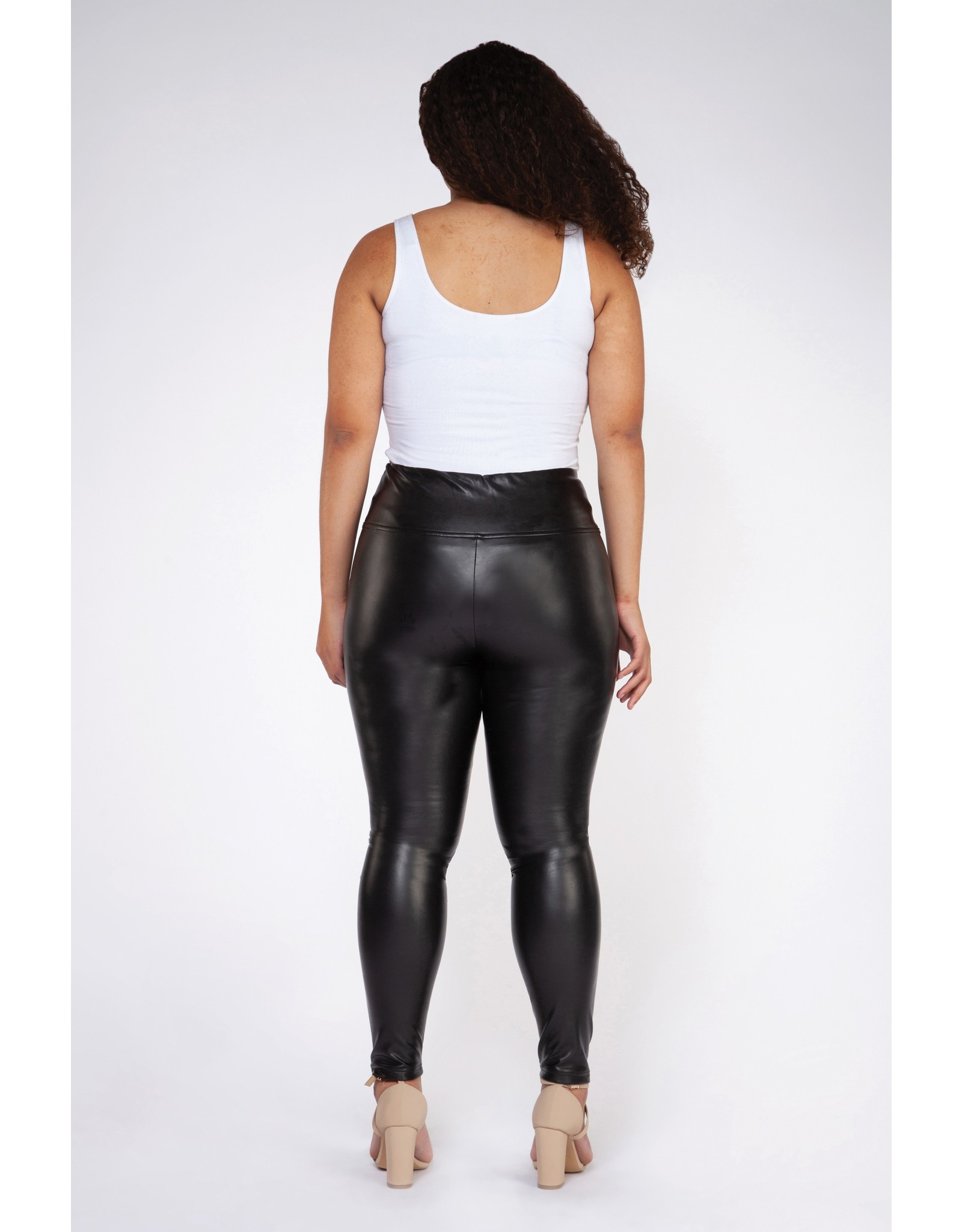 Dex Plus High Waisted Faux Leather Legging