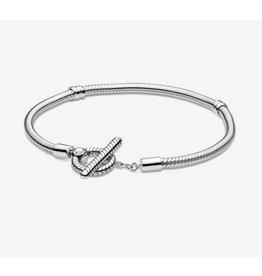 Pandora Pandora Bracelet,599082C00, Moments T-Bar Snake Chain