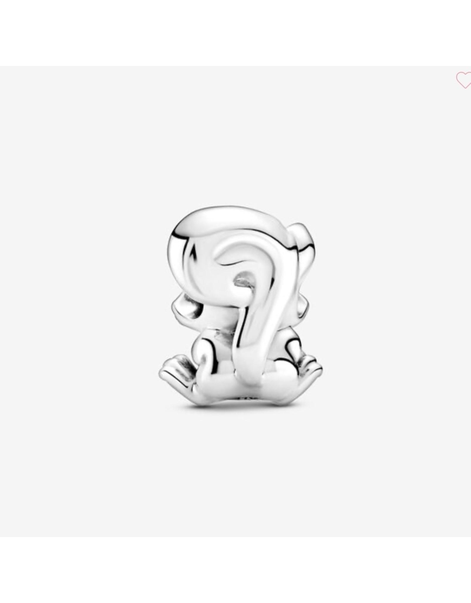 Pandora Pandora Charm,799105C01, Cute Squirrel, Sterling Silver,Black Enamel