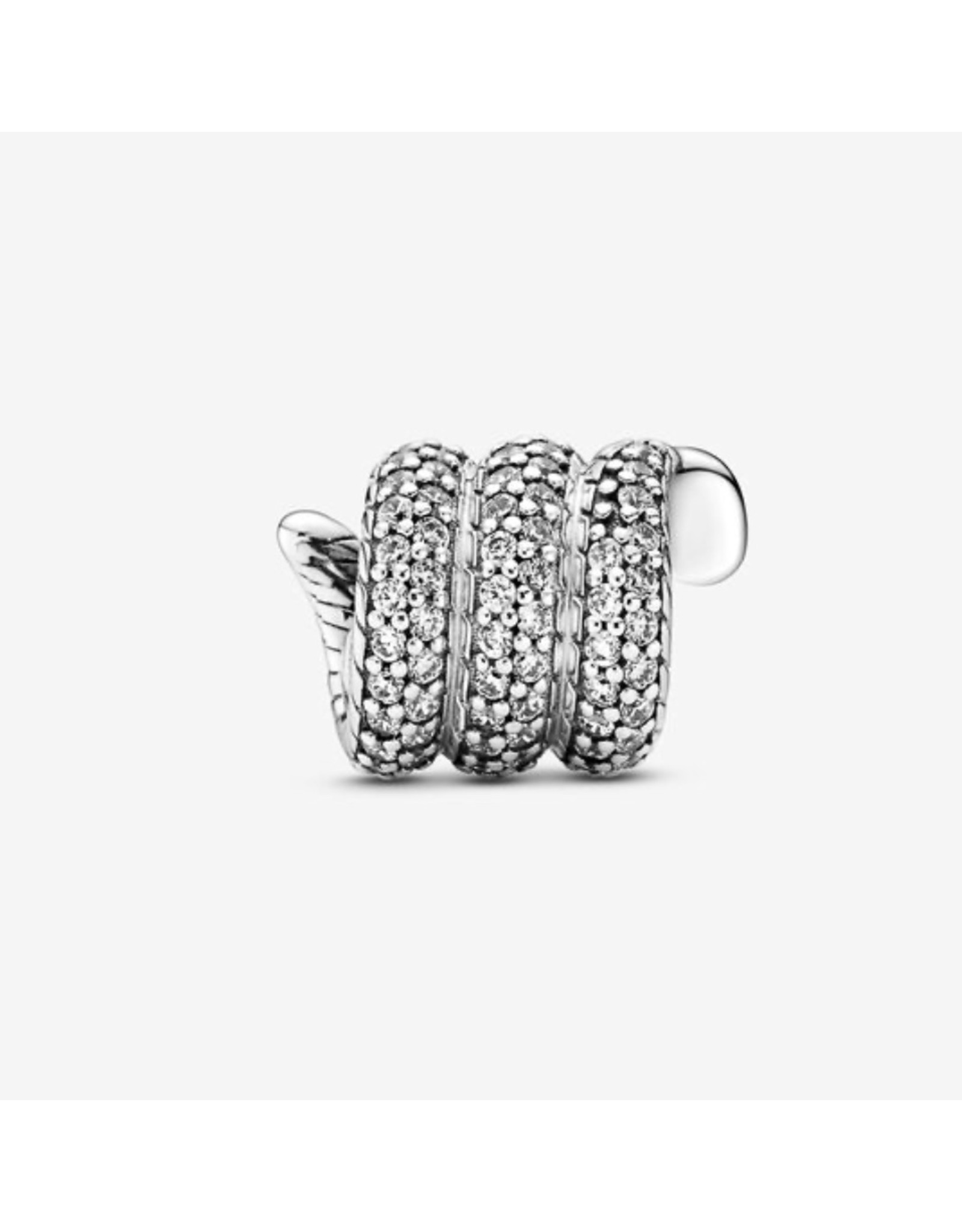 Pandora Pandora Charm,799099C01,Sparkling Wrapped Snake, Sterling Silver, Clear CZ