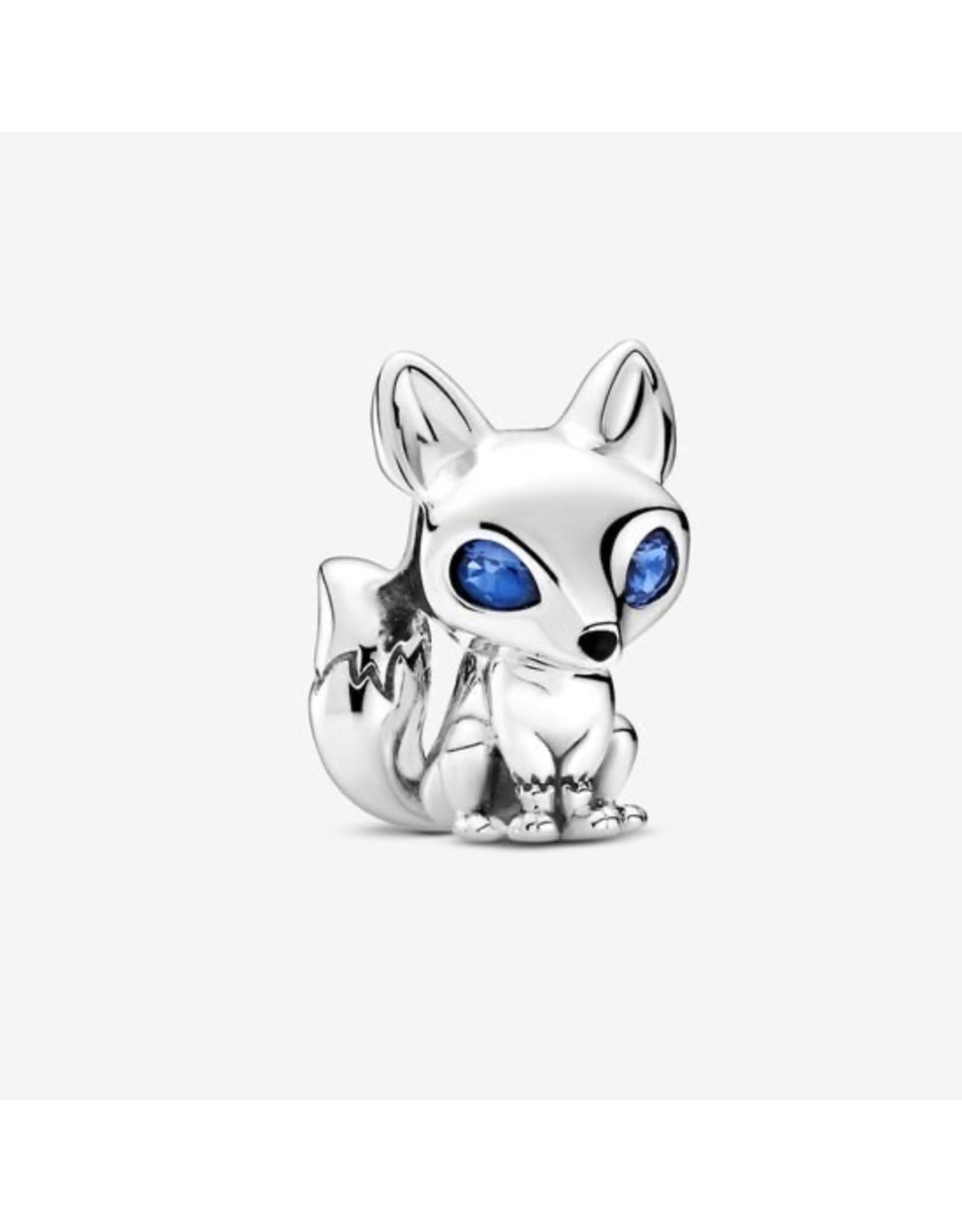 Pandora Pandora Charm,799096C01, Blue-Eyed Fox, Blue Crystals&Black Enamel, Sterling Silver