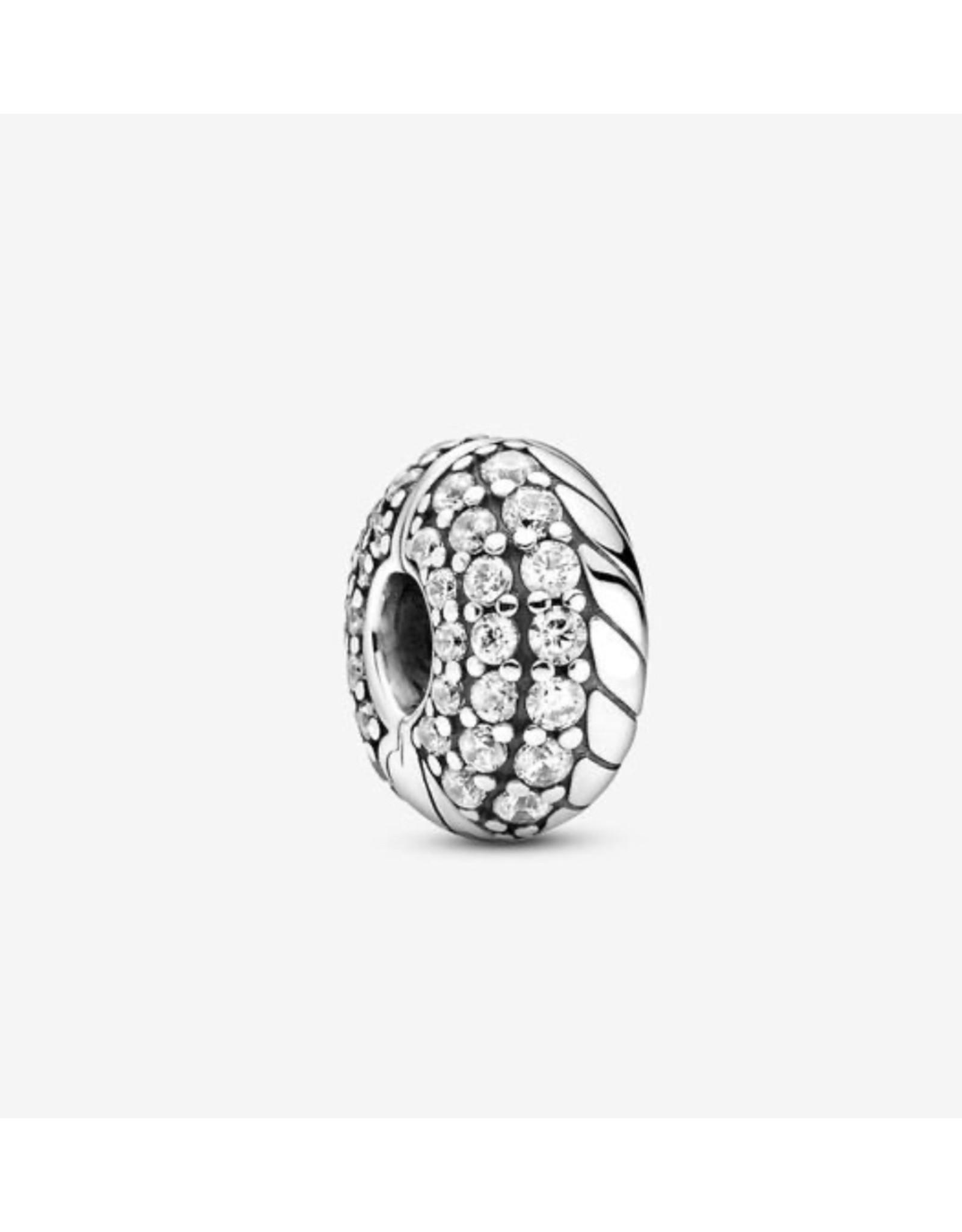 Pandora Pandora Clip,799089C01, Pave Snake Chain Pattern, Clip, Clear CZ