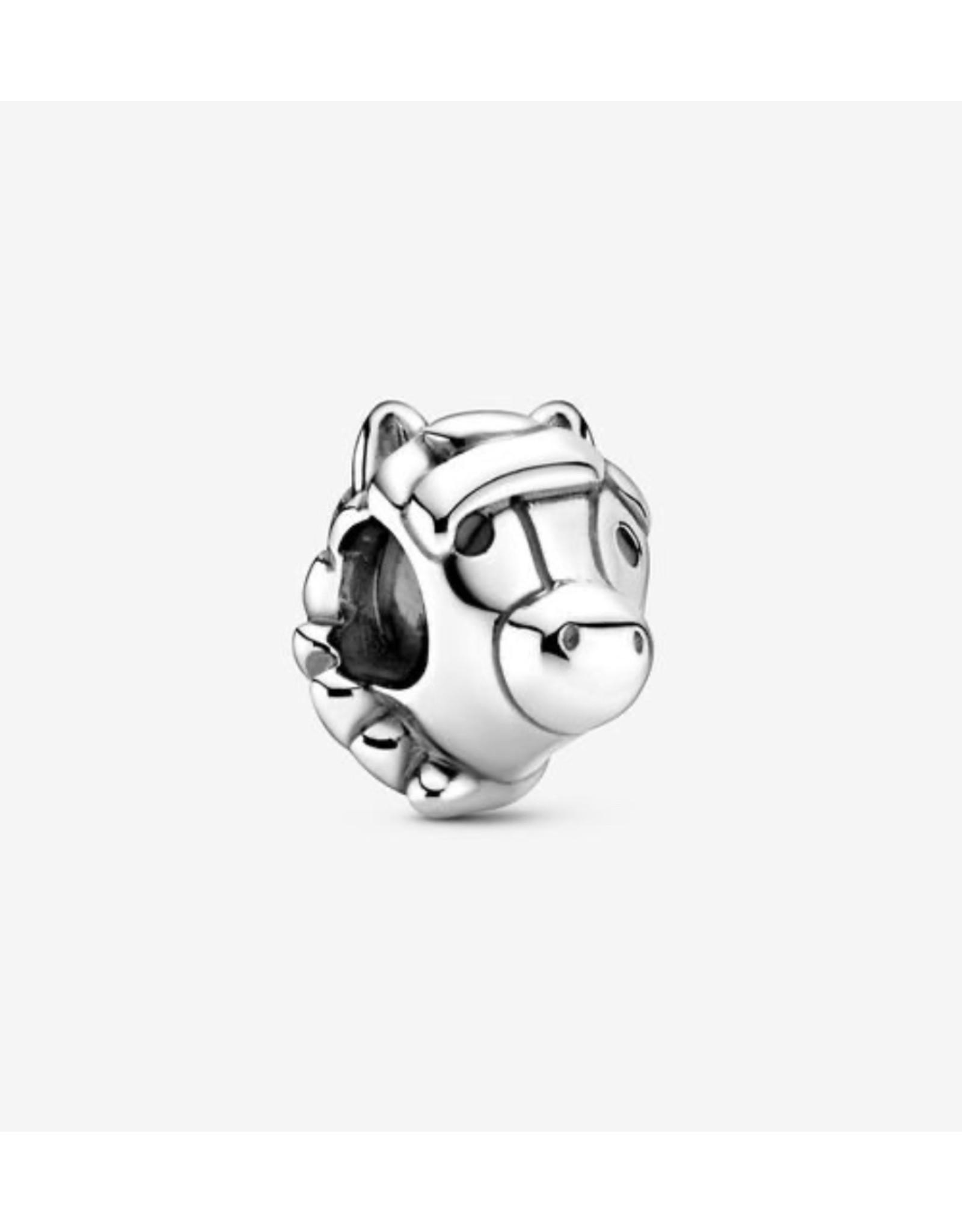 Pandora Pandora Charm,799074C01, Horse, Sterling Silver, Black Enamel