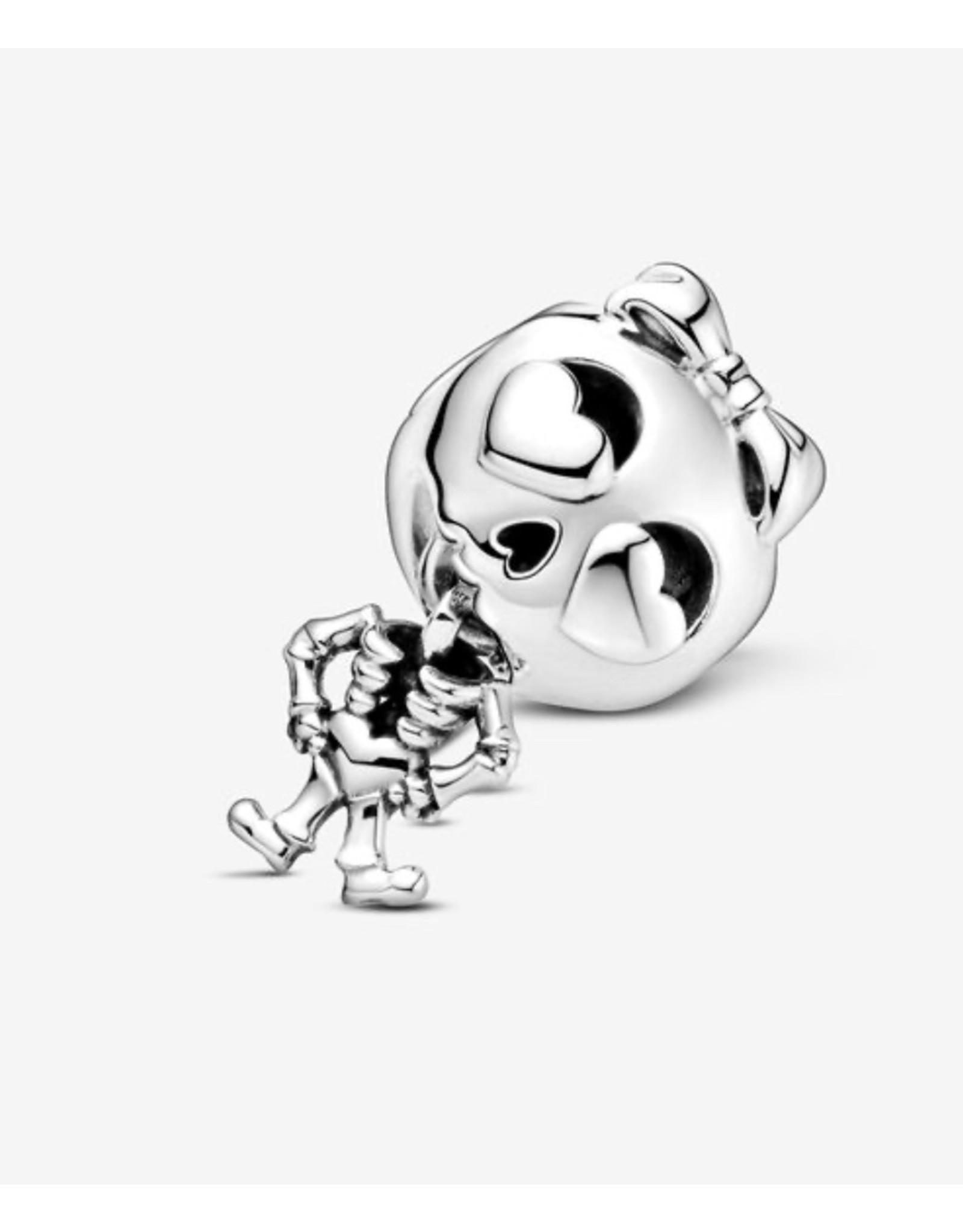 Pandora Pandora Charm,799070C00,Skeleton Girl, Sterling Silver