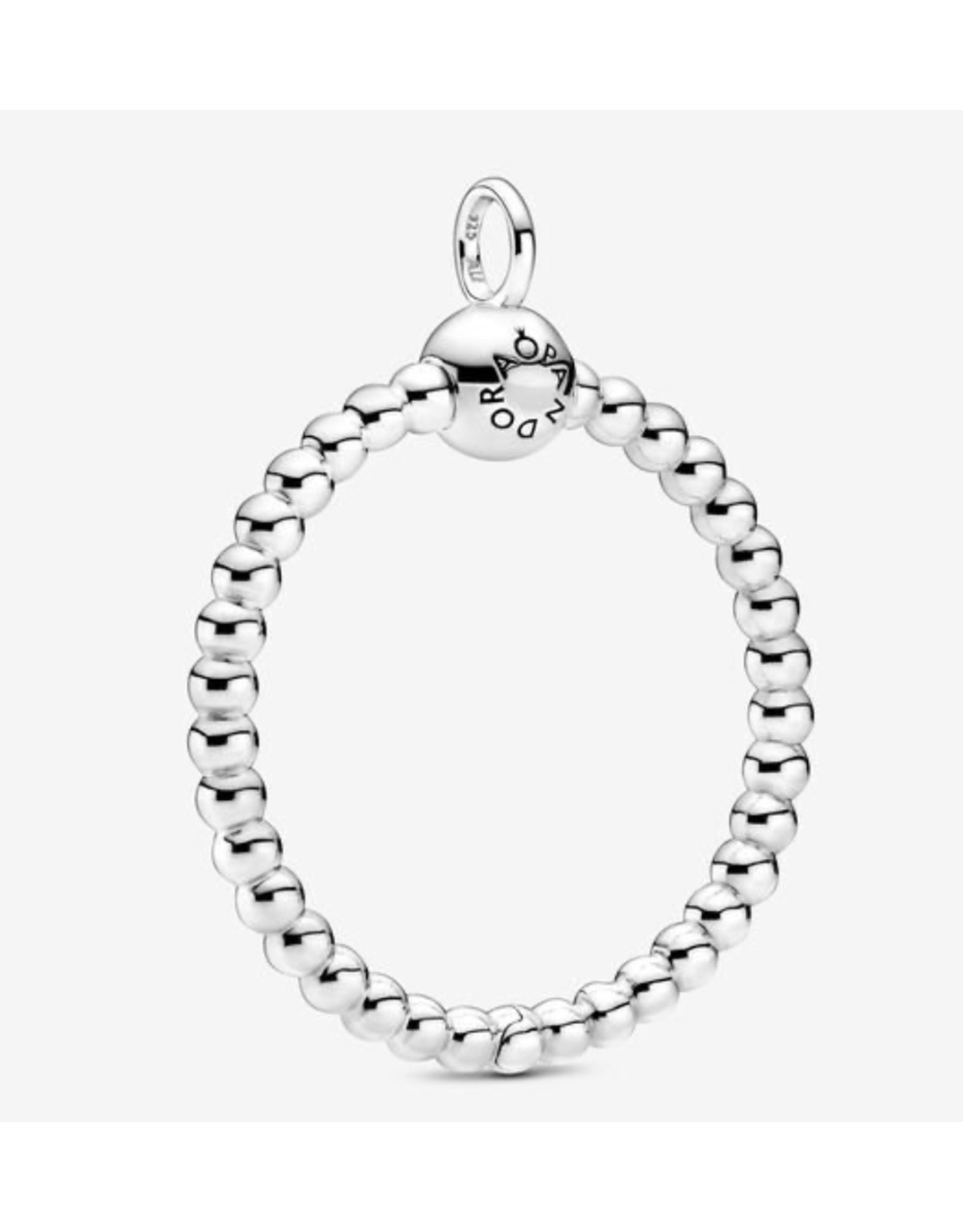 Pandora Pandora Moments Pendant,399106C00, Medium Beaded O Pendant, Sterling Silver