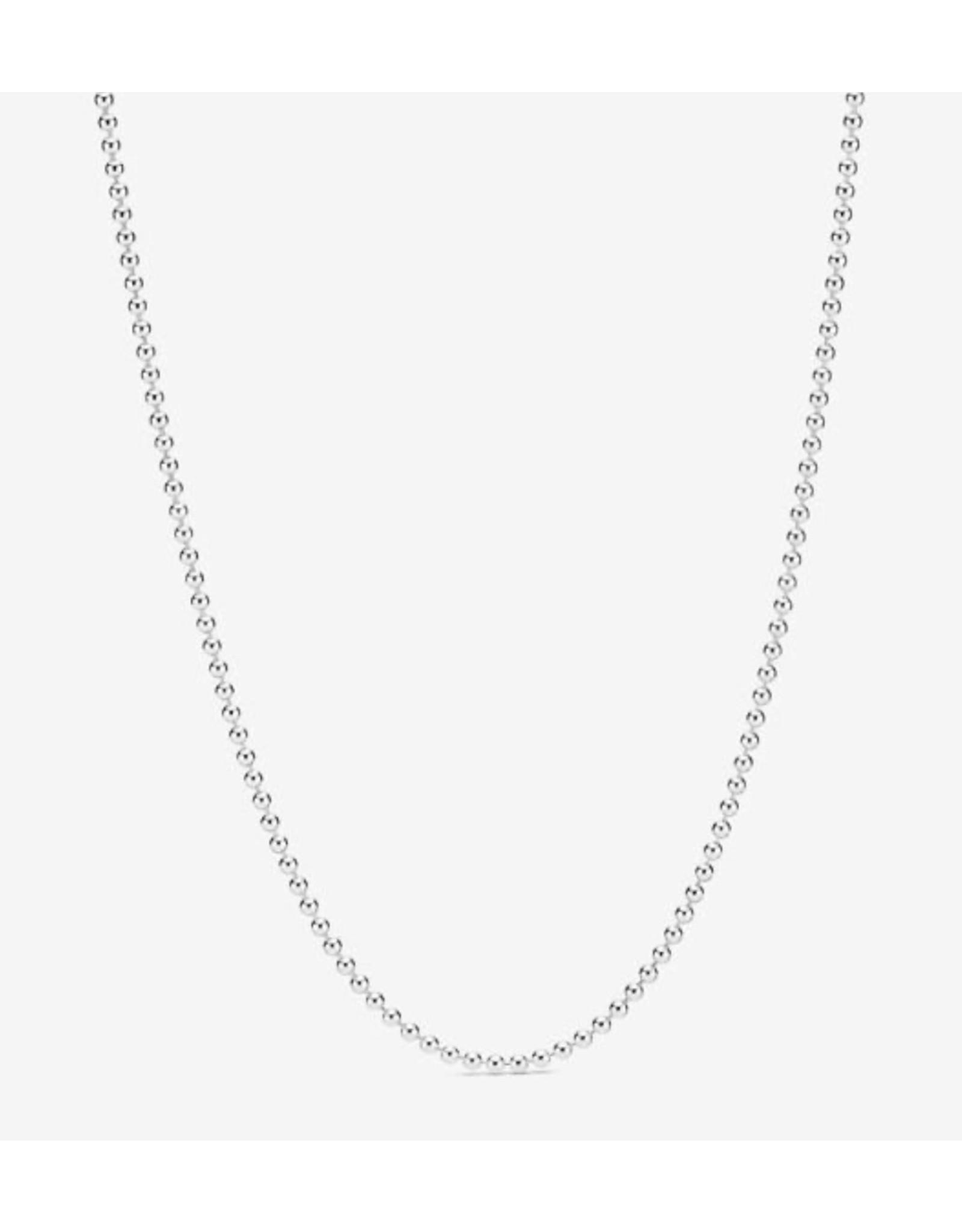 Pandora Pandora Necklace,399104C00-60, Polished Ball Chain, Sterling Silver