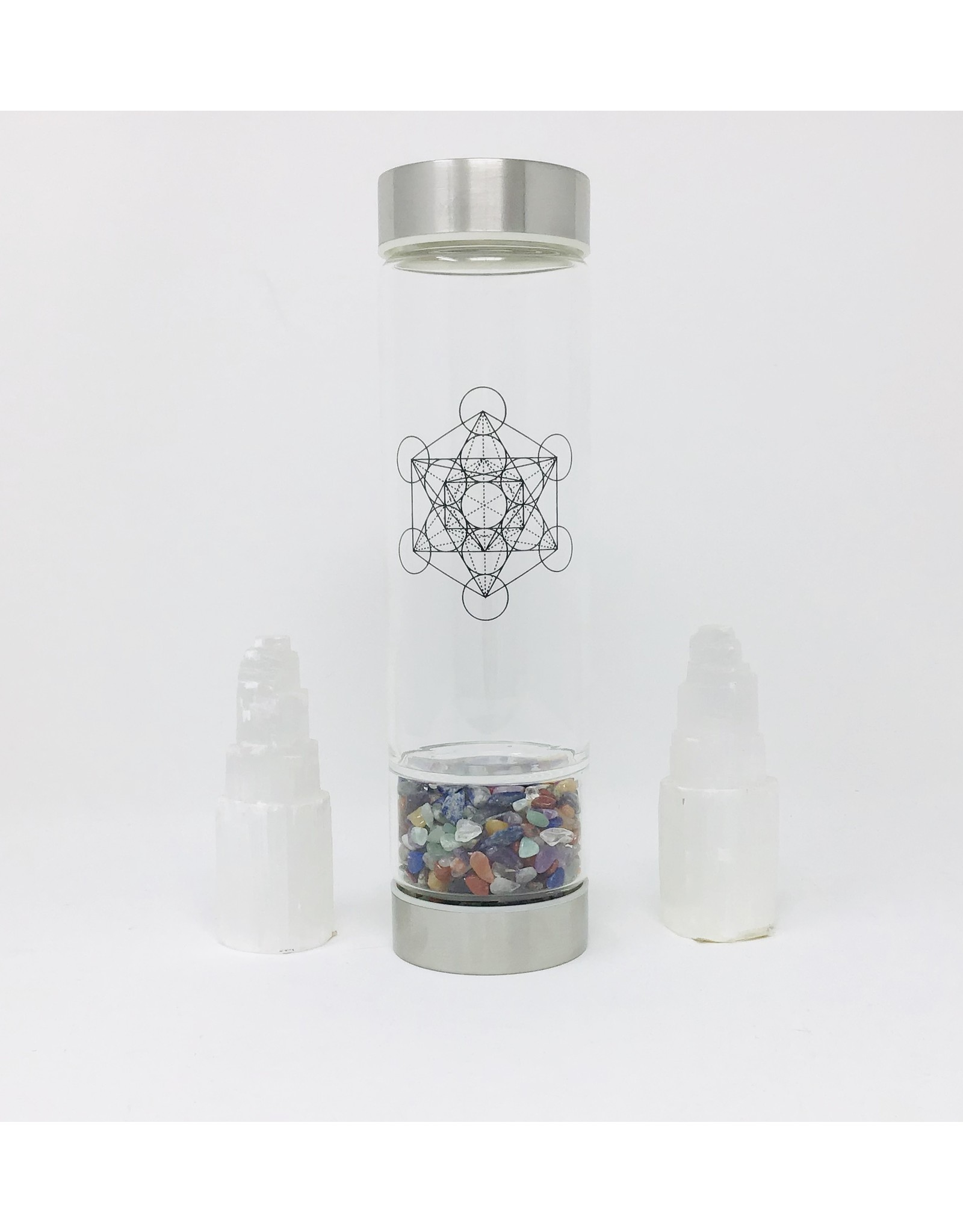 Zenature Crystal Infuser Water Bottle, Chakra, (500ml)