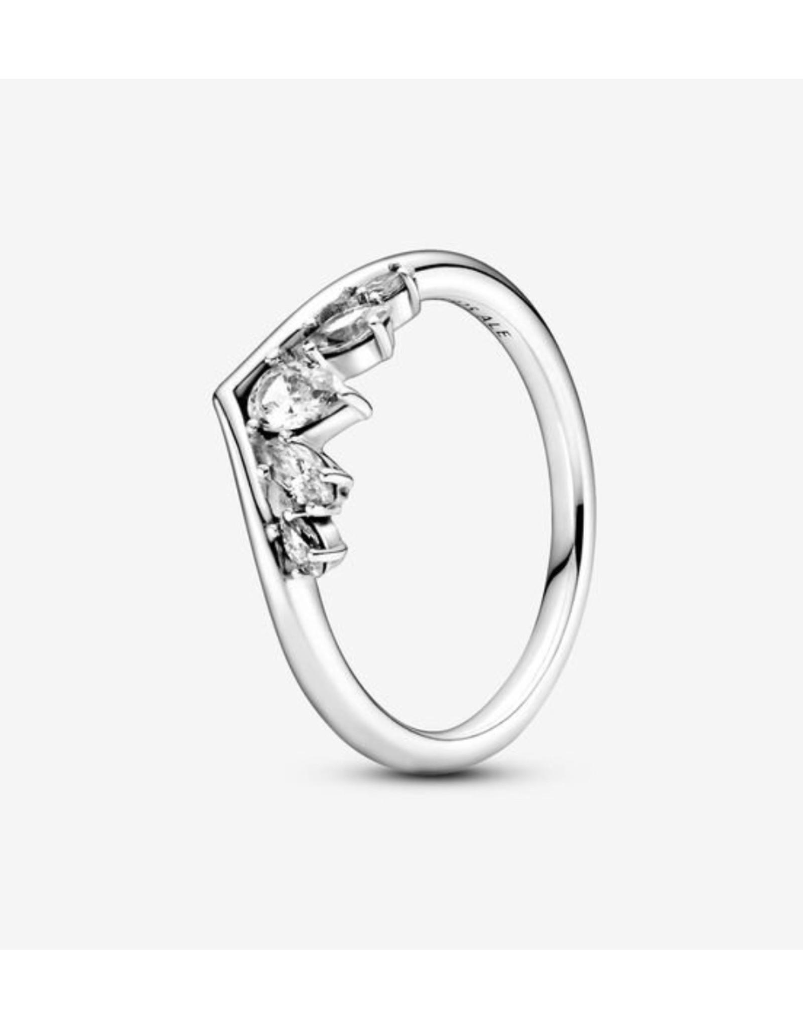 Pandora Pandora Ring,199109C01, Sparkling Pear&Marquise Wishbone, Clear CZ