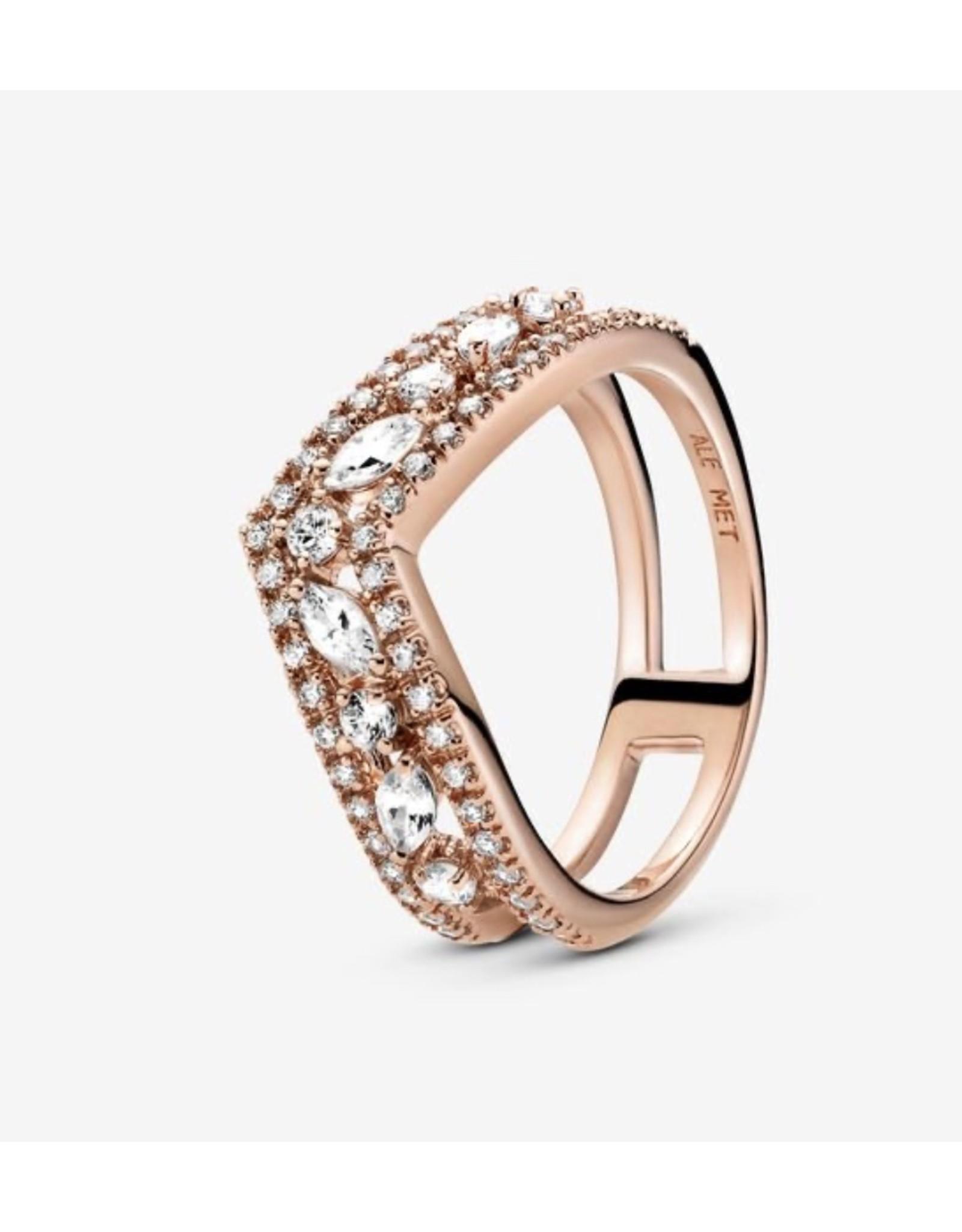 Pandora Pandora Ring,189095C01, Sparkling Marquise Double Wishbone, Clear CZ