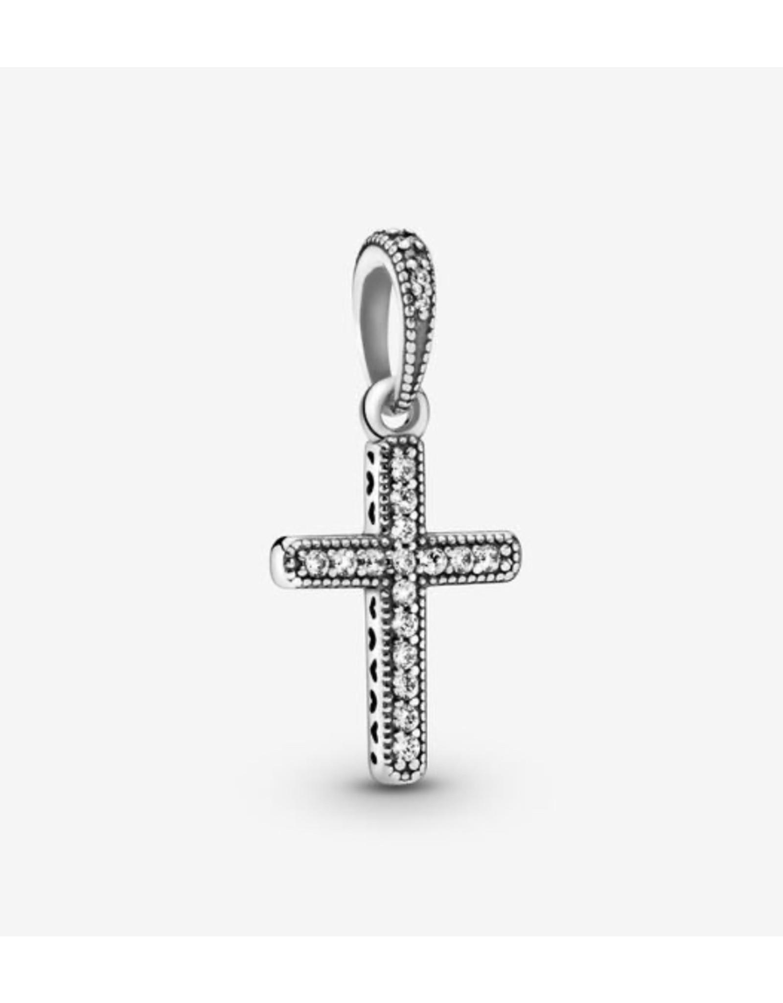 Pandora Pandora Pendant,397571CZ, Sparkling Cross, Sterling Silver Clear CZ