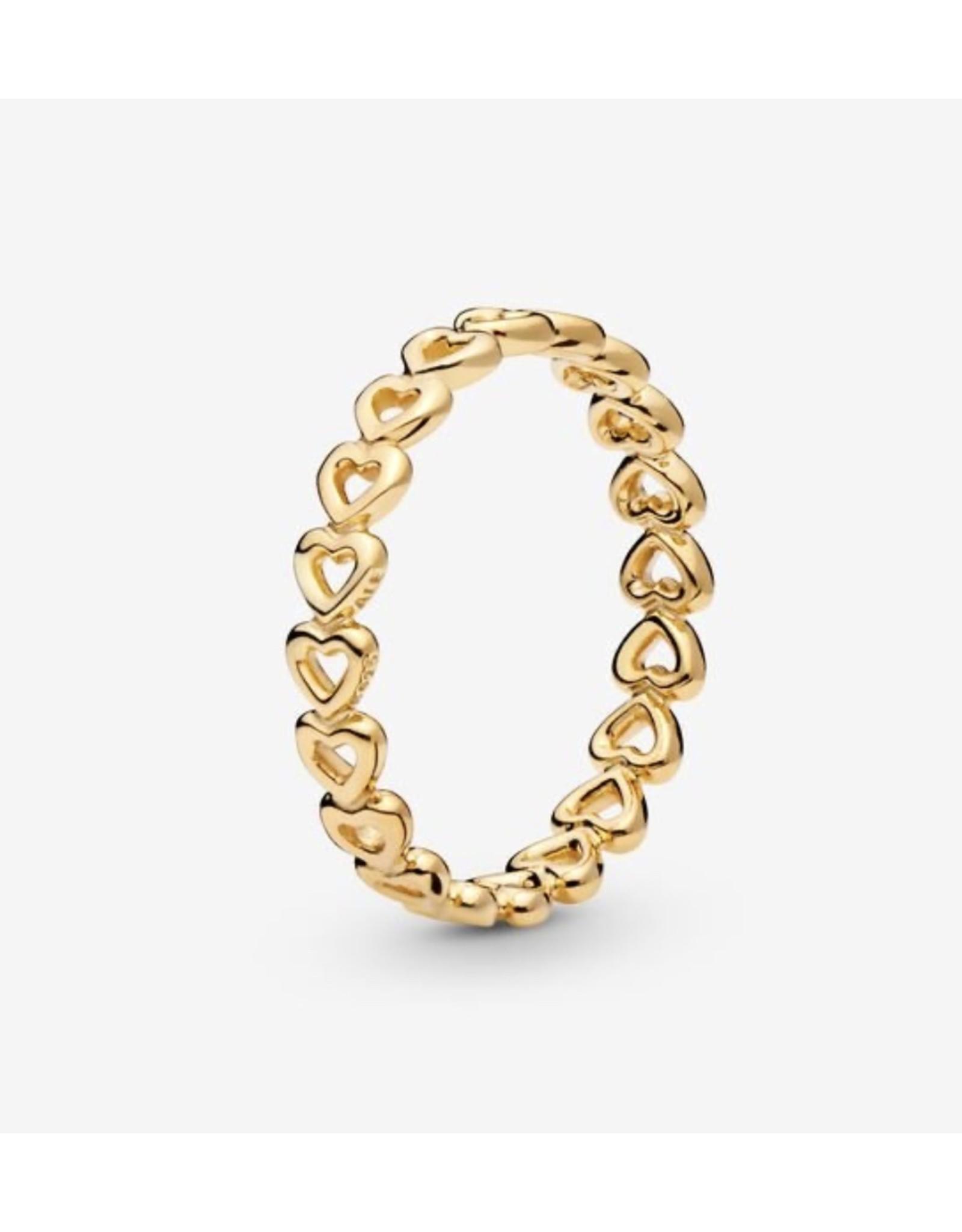 Pandora Pandora Ring,168653C00, Band Of Hearts, Shine