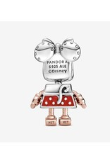 Pandora Charm,789090C01, Disney Minnie Robot, Sterling Silver With Red Enamel, Rose Gold