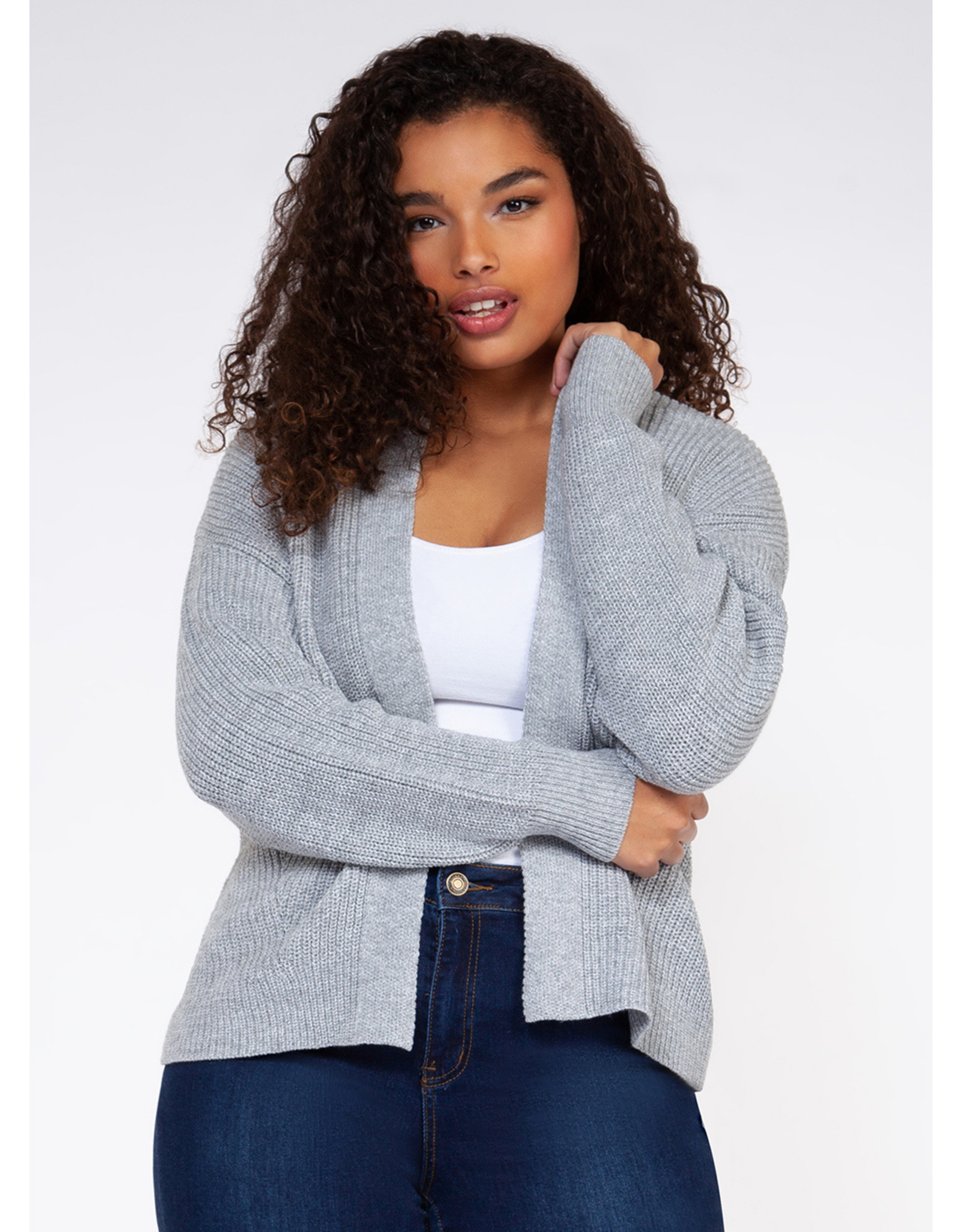 Dex Plus Open Cardigan