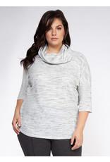 Dex Plus 3/4 Sleeve Cowl Neck Knit Top