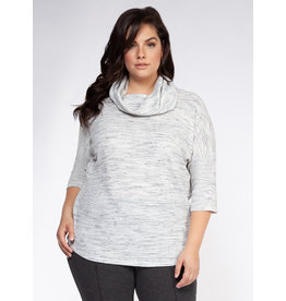 Dex Plus 3/4 Sleeve Cowl Neck Knit Top