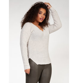 Dex Plus V-Neck Sweater Bevelled Hem