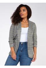 Dex Plus Ruched Sleev Blazer With Pocket