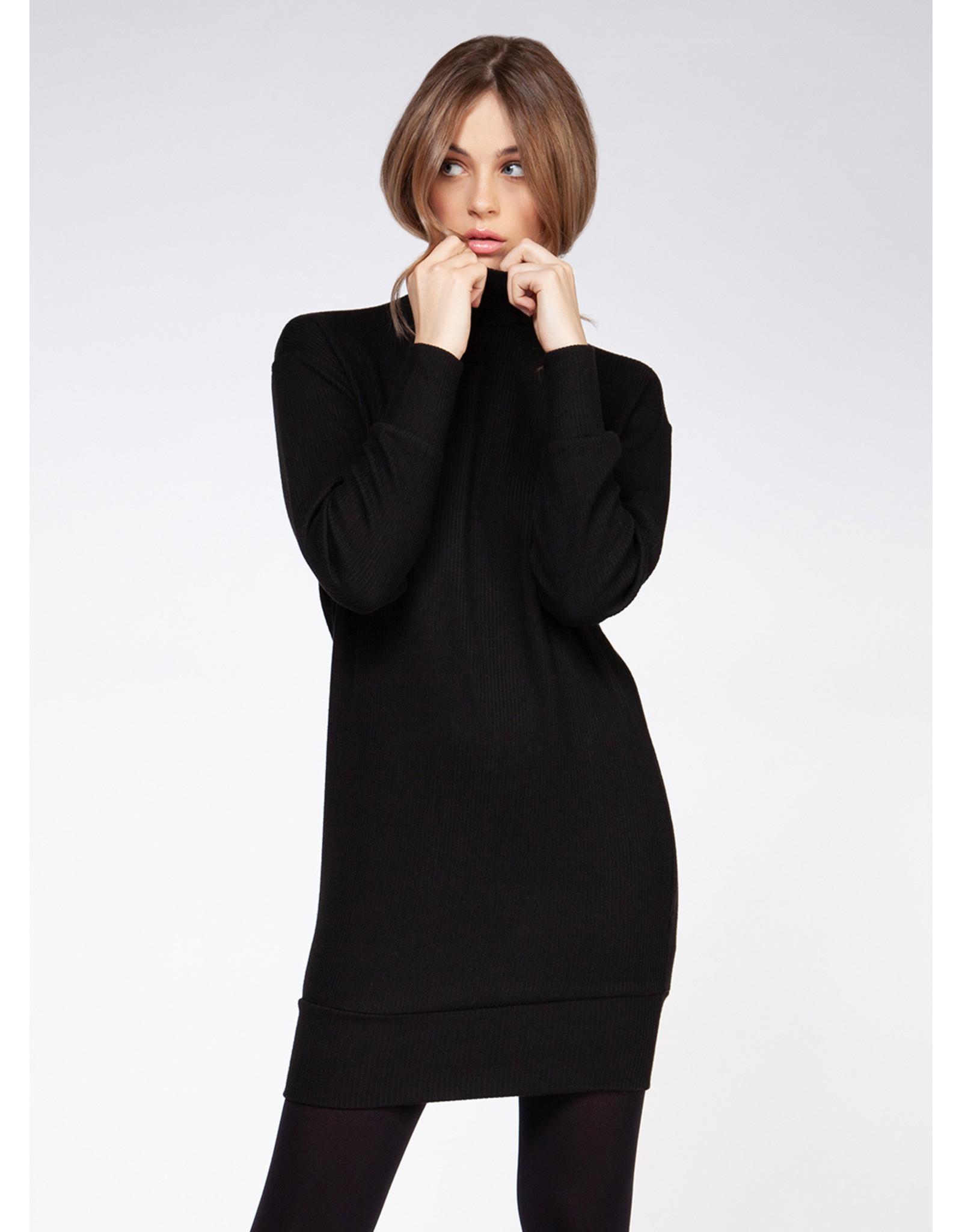 Long Sleeve, Doman Mock Neck Sweater Dress