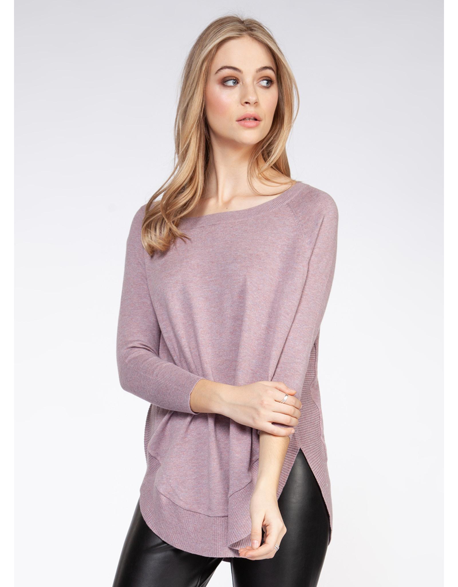 Long Sleeve Circle Hem Sweater