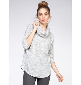 3/4 Sleeve Cowl Neck Knit Top