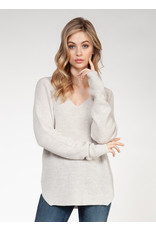 V-Neck Sweater Bevelled Hem