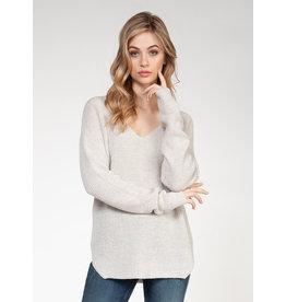 V-Neck Sweater Bevelled Hem