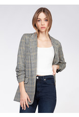 Ruched Sleeve Blazer With Pocket